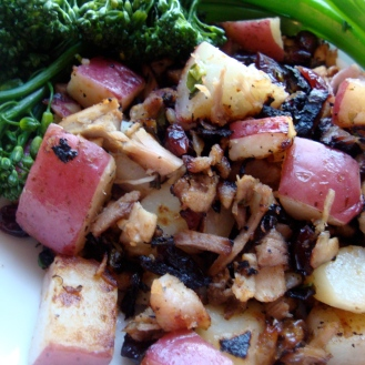 Turkey Hash with Sage and Cranberries https://bigsislittledish.wordpress.com/2010/09/20/the-many-virtues-of-home-made-chicken-stock/