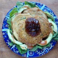 Spicy Chickpea Pancakes (with green salad)