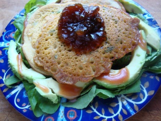 Spicy Chickpea Pancakes https://bigsislittledish.wordpress.com/2010/09/17/spicy-chick-pea-pancakes-with-green-salad/