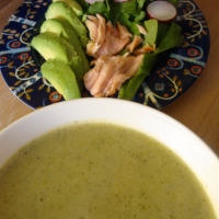 A Menu in Honour of Broccoli Soup (Gluten-free Popovers, Green Salad and Baked Apples)