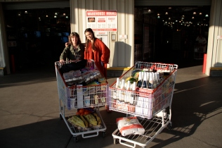 Loading up at Costco