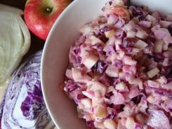 Fennel, Apple, Red Cabbage Slaw https://bigsislittledish.wordpress.com/2011/10/13/the-return-of-the-cabbage-craving-fennel-apple-and-red-cabbage-slaw/