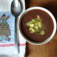 Brazilian Black Bean Soup with Pineapple Mint Salsa https://bigsislittledish.wordpress.com/2011/10/22/cheap-eats-brazilian-black-bean-soup-and-pineapple-mint-salsa/