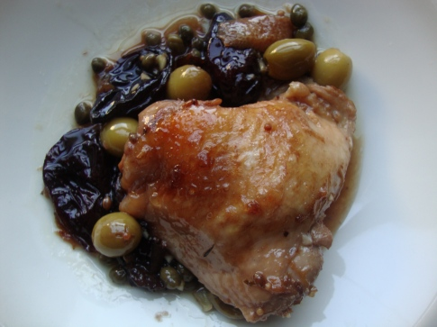 Chicken Baked with Prunes, Capers and Green Olives https://bigsislittledish.wordpress.com/2011/11/01/chicken-baked-with-prunes-capers-and-green-olives/