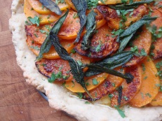 Butternut Squash and Sage Pizza https://bigsislittledish.wordpress.com/2011/12/19/butternut-squash-and-sage-pizza-or-a-gluten-free-squash-and-sage-gratin/