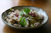 Quinoa, Fennel and Pomegranate Salad https://bigsislittledish.wordpress.com/2011/12/30/quinoa-fennel-pomegranate-salad-html/