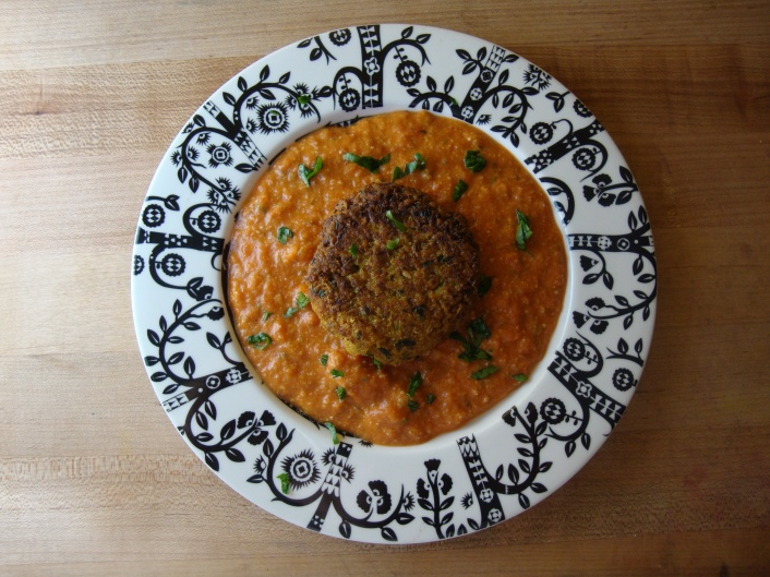 Pan Fried Cauliflower Kofta in Tomato Gravy https://bigsislittledish.wordpress.com/2012/01/26/cauliflower-kofta-in-creamy-tomato-gravy-pan-fried-instead-of-deep-fried/