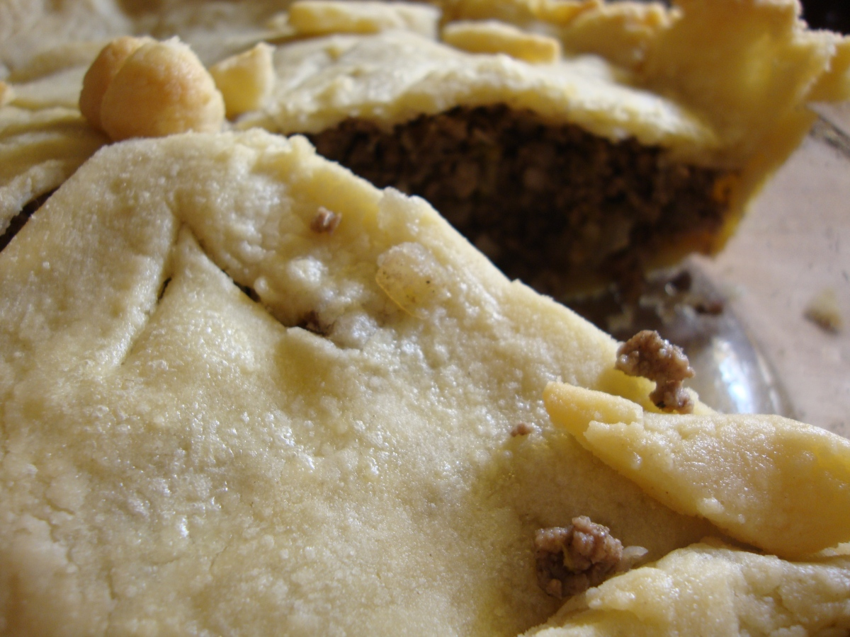 Aunt Claire's Tourtière (with a gluten-free crust)