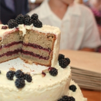 Lemon Blackberry Wedding Cake (Gluten-Free)