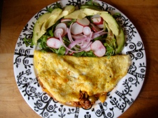 Picadillo Omelet https://bigsislittledish.wordpress.com/2012/03/04/picadillo-omelet-with-a-salad/