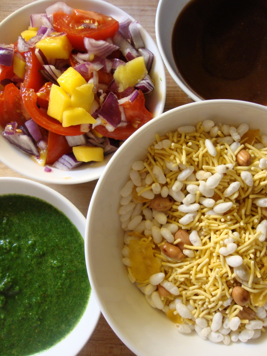 Bhel-Poori, without the Poori (gluten-free)