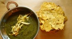 Butter, Garlic and Ginger Laced Mustard Greens https://bigsislittledish.wordpress.com/2012/03/25/butter-garlic-and-ginger-laced-pureed-mustard-greens-served-with-radish-corn-bread/
