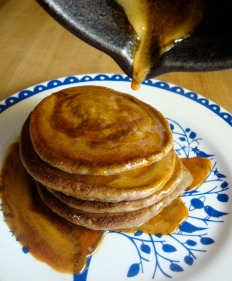 Buckwheat Pancakes https://bigsislittledish.wordpress.com/2012/04/13/buckwheat-pancakes-with-sorghum-syrup/