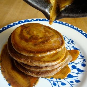 Buckwheat Pancakes https://bigsislittledish.wordpress.com/2012/04/13/buckwheat-pancakes-with-sorghum-syrup/