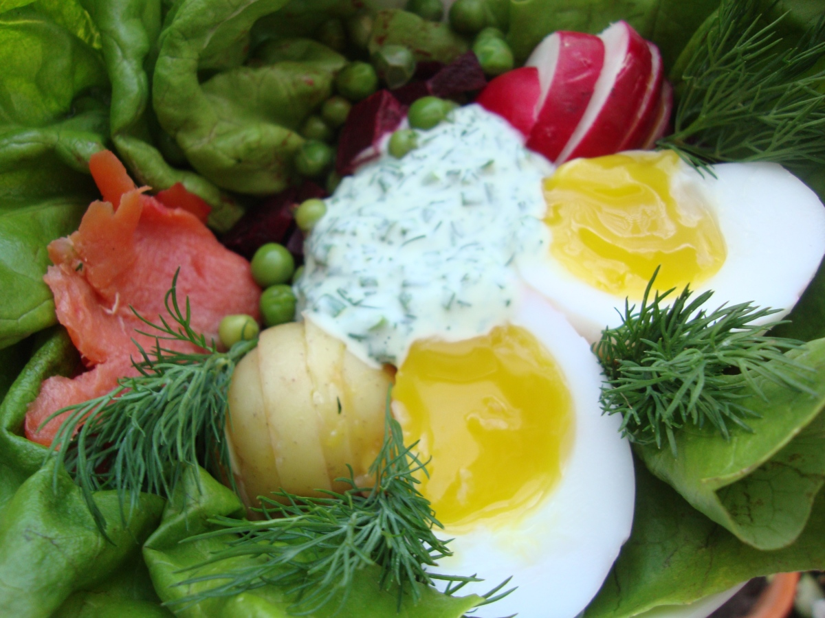 A Composed Spring Salad Inspired by Estonian Rosolje and Bird's Nests