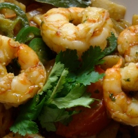 Thai Shrimp Stir-fry with Garlic, Cilantro and Peppercorns