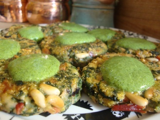 Green Fritters with Herb Sauce https://bigsislittledish.wordpress.com/2012/05/31/green-fritters-with-herb-sauce/