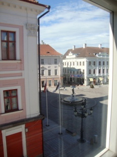 The view of the square from our apartment