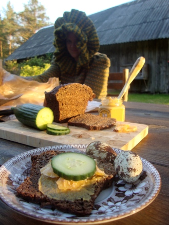 Snack time on the Isle of Cats- Estonian Open Faced Sandwiches https://bigsislittledish.wordpress.com/2012/07/08/snack-time-on-the-island-of-cats/
