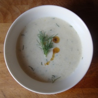 Cold Cucumber Soup with Dill and Sesame