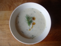 Cold Cucumber Soup with Dill and Sesame http://bigsislittledish.wordpress.com/2012/07/16/cold-cucumber-soup-with-dill-and-sesame/