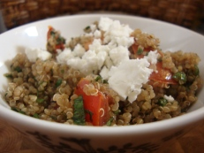 Quinoa Tabbouleh https://bigsislittledish.wordpress.com/2012/10/13/quinoa-tabbouleh/