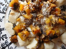 Chestnut Gnocchi with Squash, Mushrooms and Rosemary https://bigsislittledish.wordpress.com/2012/11/28/chestnut-gnocchi-with-squash-mushrooms-and-rosemary/