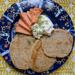 Gluten-Free Sourdough Blini https://bigsislittledish.wordpress.com/2012/12/15/sourdough-blini-gluten-free/