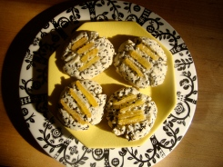Black Sesame Shortbread with Candied Ginger https://bigsislittledish.wordpress.com/2012/12/12/black-sesame-shortbread-with-candied-ginger-gluten-free-travels-in-taiwan/