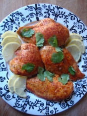 Fake Tandoori Chicken https://bigsislittledish.wordpress.com/2013/01/12/fake-tandoori-chicken/
