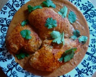 Butter Chicken https://bigsislittledish.wordpress.com/2013/02/10/sangeetas-butter-chicken/