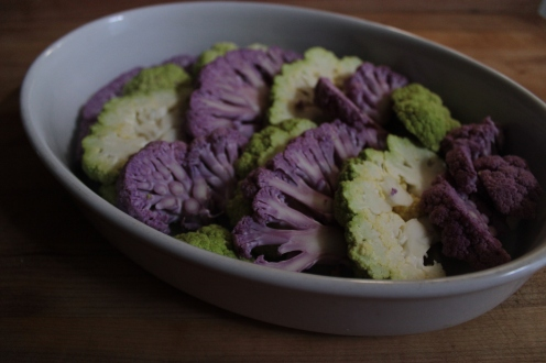 Cauliflower Gratin with Horseradish https://bigsislittledish.wordpress.com/2013/03/15/cauliflower-gratin-with-horseradish-and-poppy-seeds/