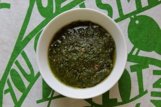 Four Weird and Delicious Pestos https://bigsislittledish.wordpress.com/2013/04/24/four-weird-and-delicious-pestos/