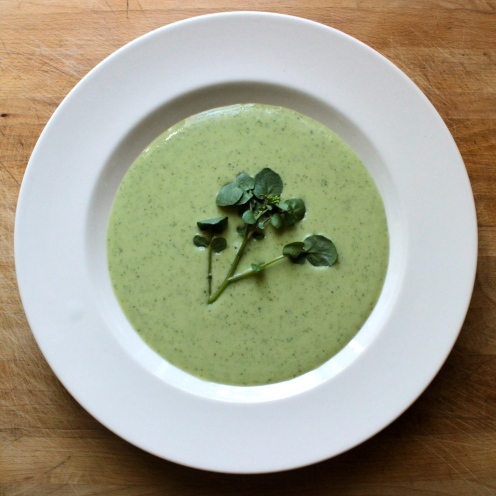 Watercress and Buttermilk Vichyssoise https://bigsislittledish.wordpress.com/2013/05/05/watercress-and-buttermilk-vichyssoise/