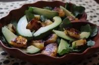 Watercress Salad with Avocado and Broiled Pineapple https://bigsislittledish.wordpress.com/2013/05/12/watercress-salad-with-avocado-and-broiled-pineapple/