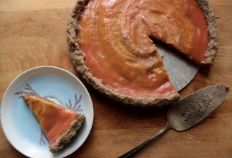 Rhubarb Curd Tart Gluten-Free Buckwheat Almond Tart Crust https://bigsislittledish.wordpress.com/2013/05/10/rhubarb-curd-tart-with-a-buckwheat-almond-crust-gluten-free/