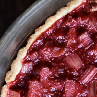 Raspberry Rhubarb and Almond Tart (Gluten-free or not)