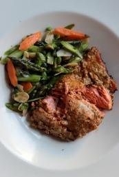 Salmon Marinated in Spiced Yogurt with Rhubarb Chutney https://bigsislittledish.wordpress.com/2013/07/04/salmon-marinated-in-spiced-yogurt-grilled-or-baked-with-rhubarb-chutney/