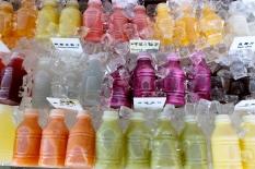 AMAZING fresh fruit juice on Yonkang Road. The Fushia one is dragonfruit! My favourite is passionfruit.