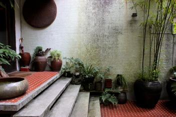 Beautiful courtyard in Yongkang Road area.