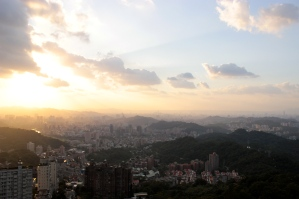 The view of Taipei from The Maokong Gondola