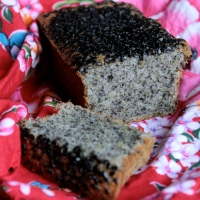 Tea Time in Taipei/ Black Sesame and Lemon Tea Cake (gluten-free)