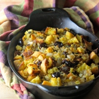 Cornbread Stuffing with Sage and Cherries (gluten-free)