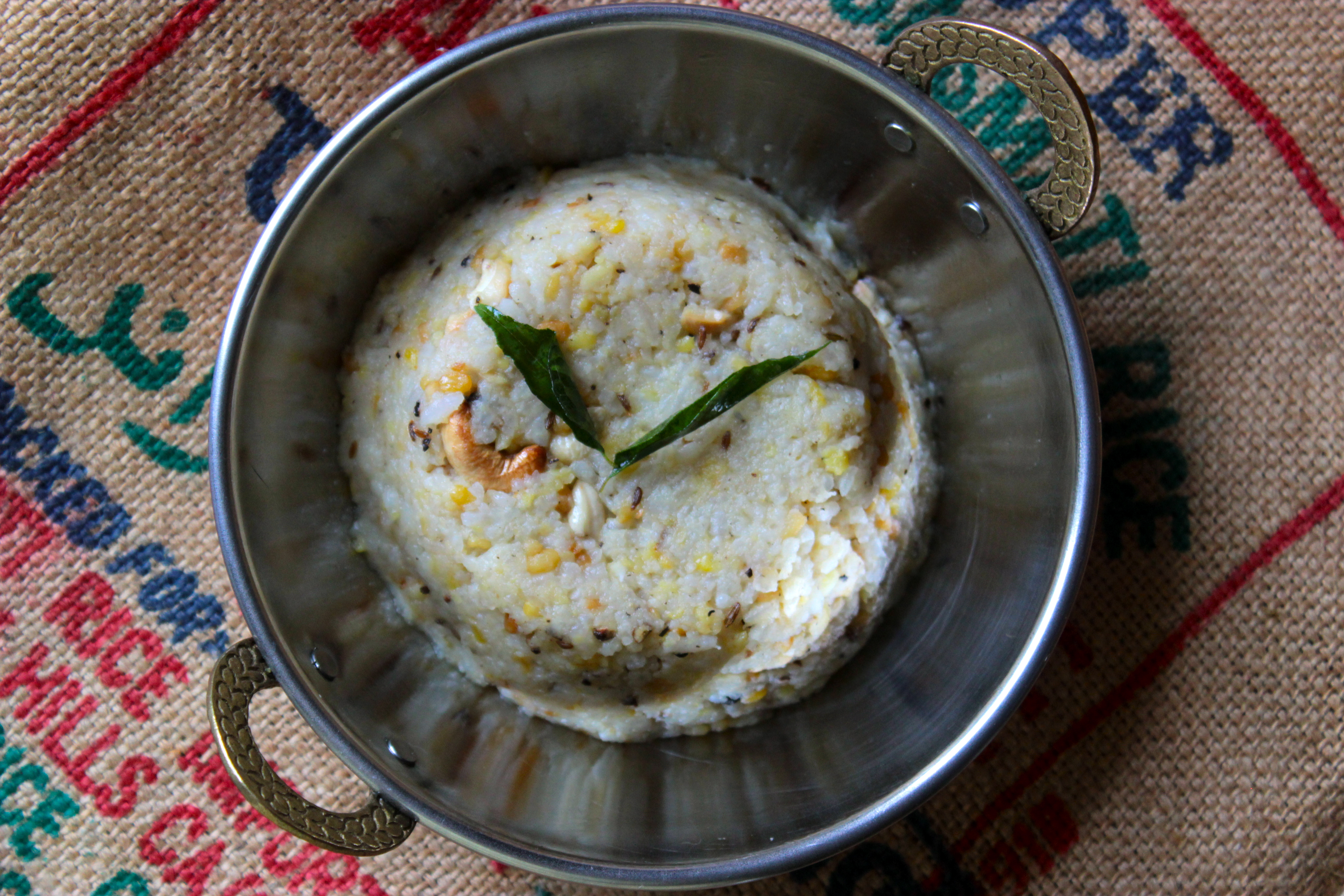 how to make pongal rice