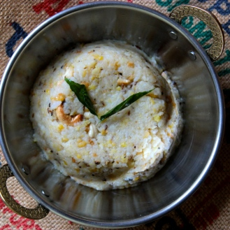 Ven Pongol https://bigsislittledish.com/2014/01/12/rice-and-moong-dal-pudding-with-black-pepper-cumin-and-ginger-ven-pongal/