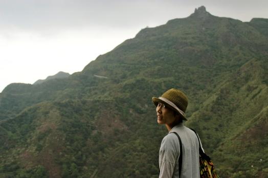 Xiaochu with teapot mountain above Jinguashi.