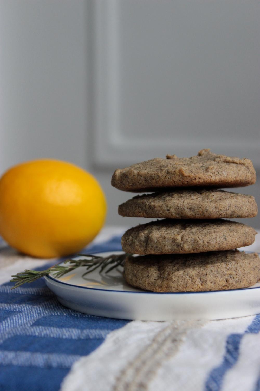 Rosemary Lemon Buckwheat Cookies