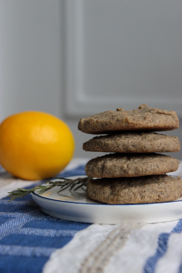 Rosemary Lemon Buckwheat Cookies