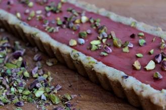 Rhubarb Rose Tart with Cardamom Shortbread Crust https://bigsislittledish.wordpress.com/2014/05/11/happy-mothers-day-rhubarb-rose-tarts-with-a-cardamom-shortbread-crust-gluten-free/