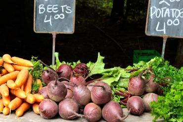 Vegetables at the Gabriola Island Farmer's Market